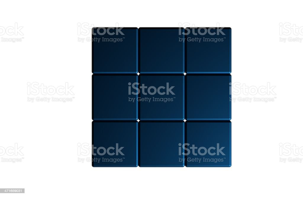 blue magic cube royalty-free stock photo
