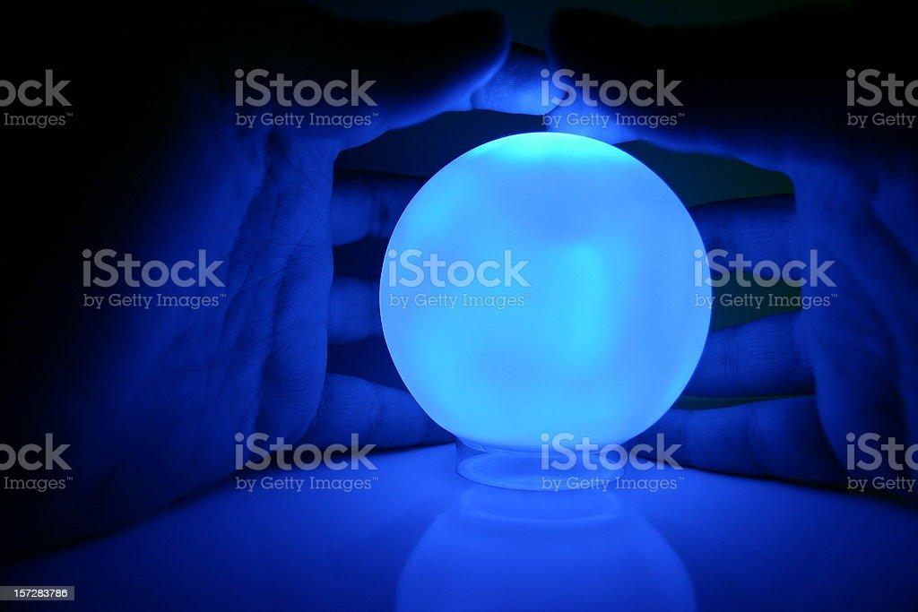 Blue magic royalty-free stock photo