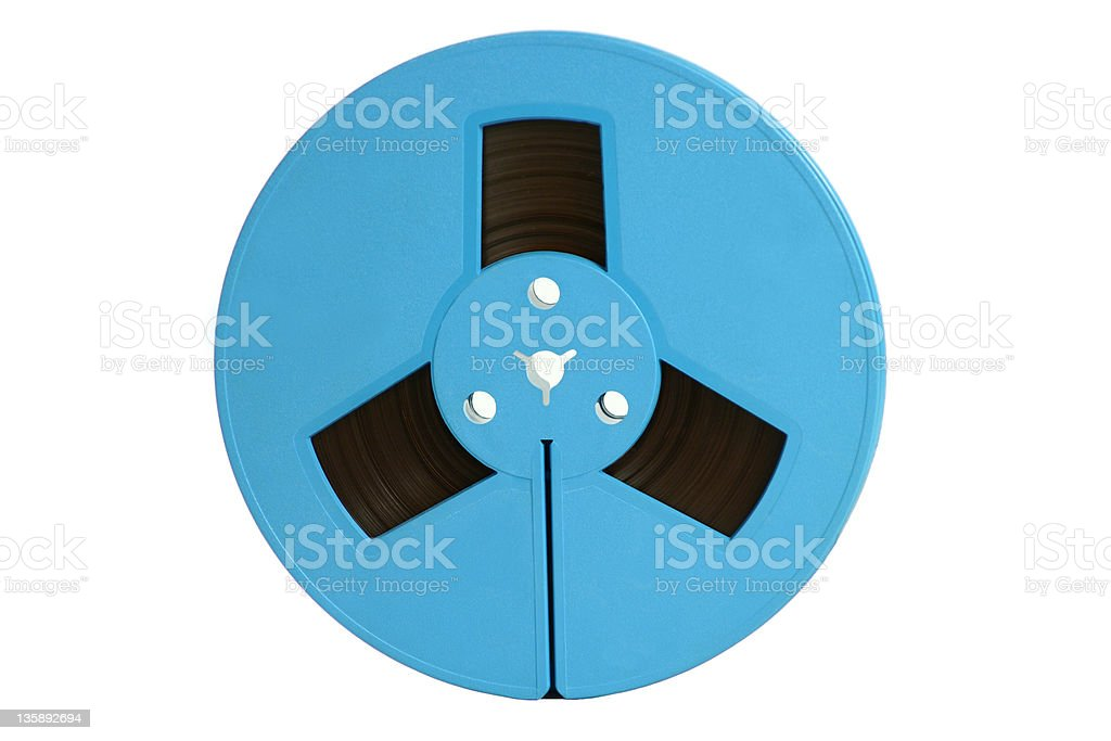 blue magnetic tape stock photo