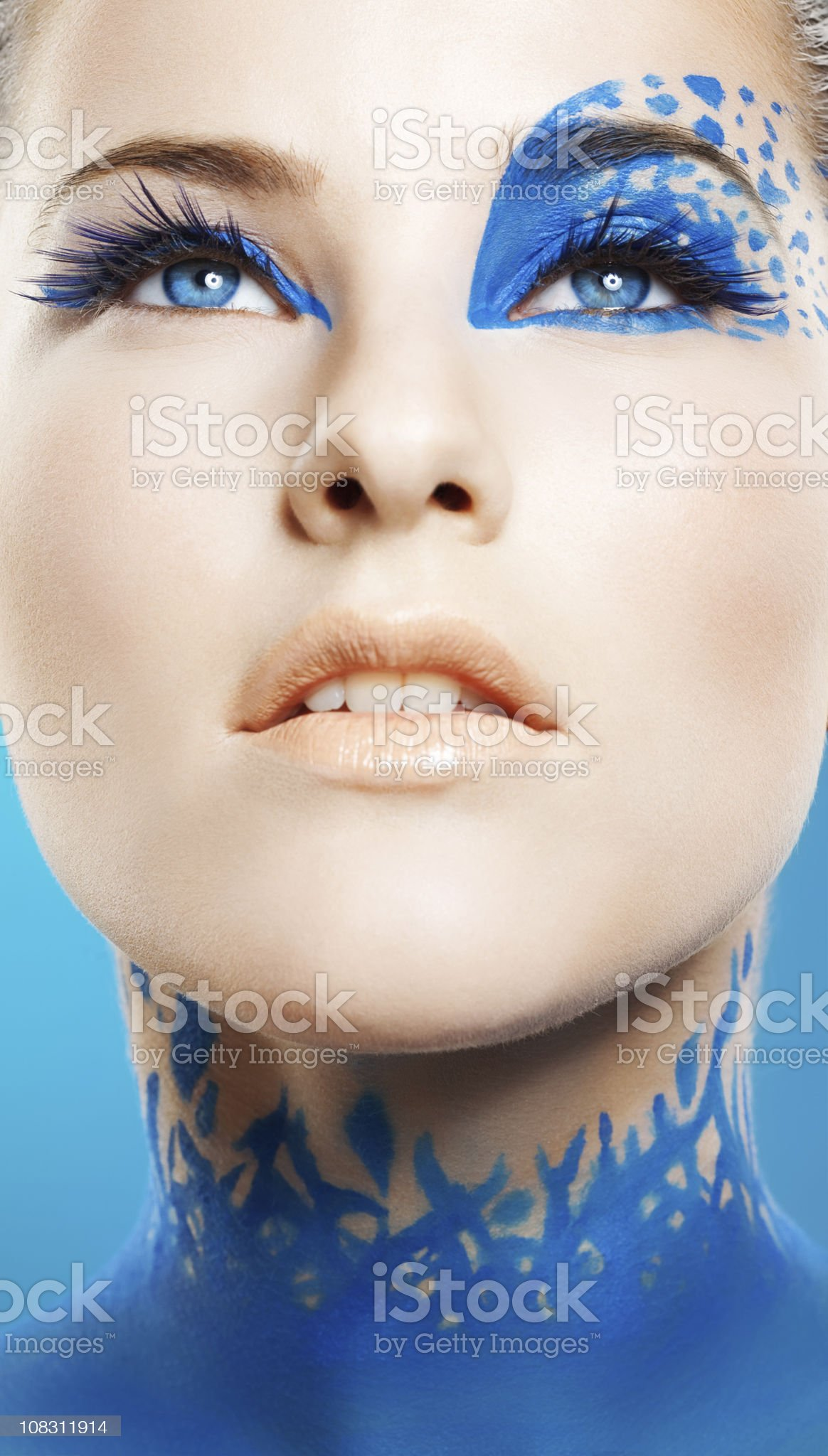 blue make-up royalty-free stock photo