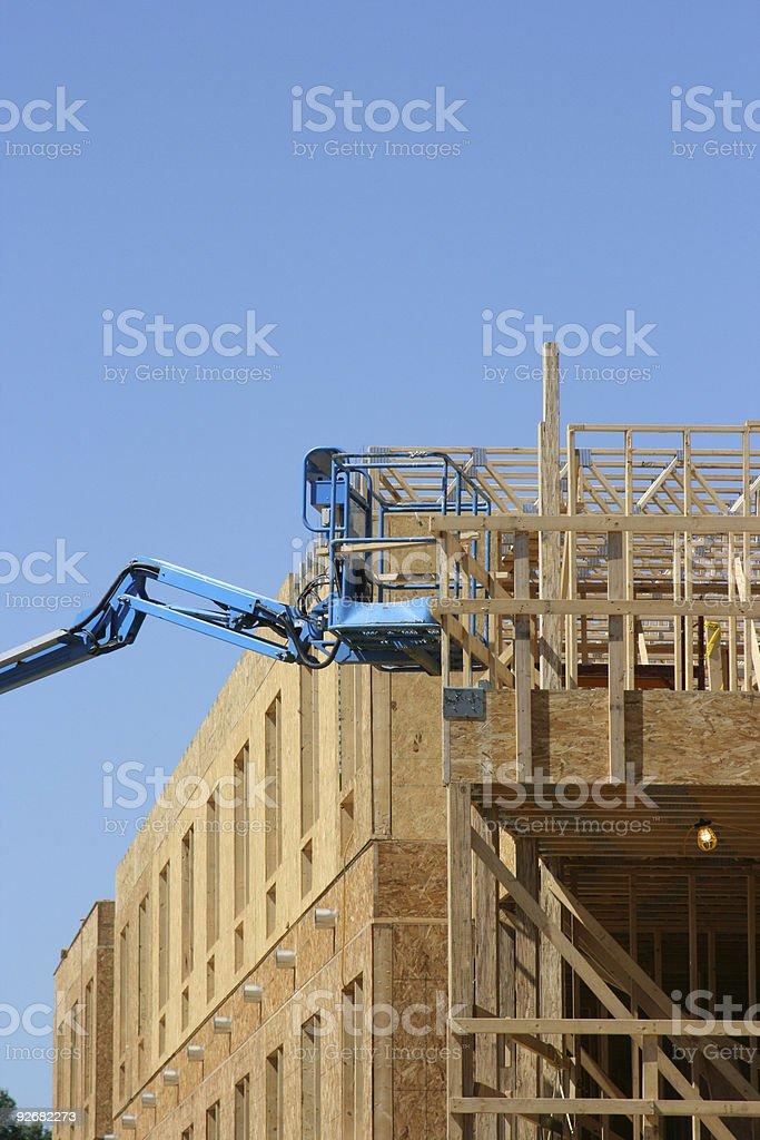 Blue Man Lift stock photo