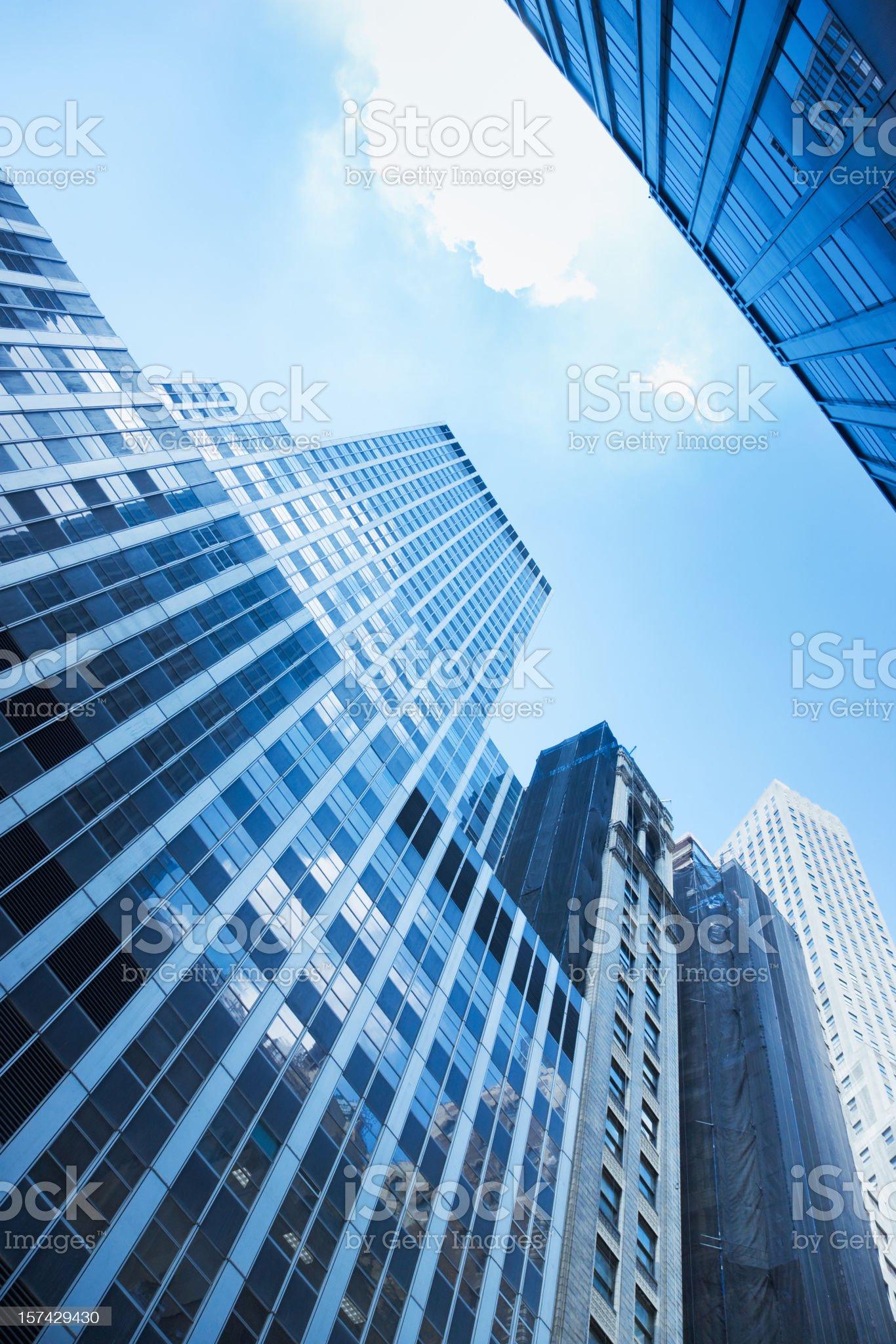 Blue Manhattan Skyscrapers New York City royalty-free stock photo