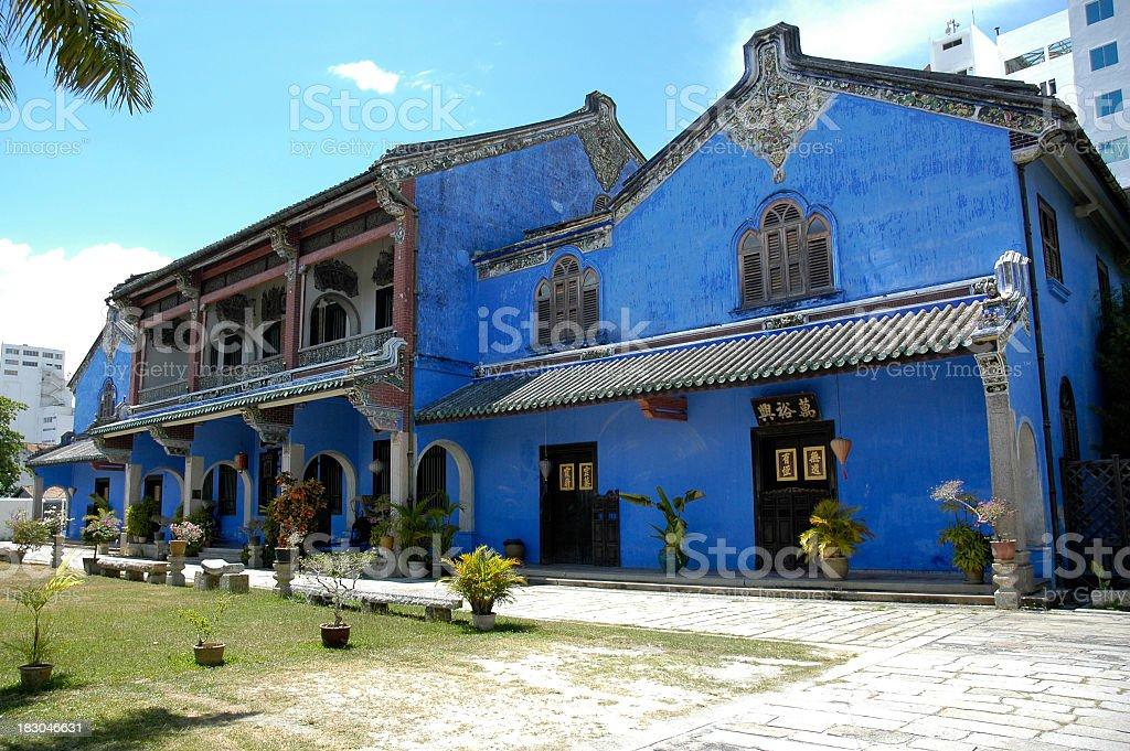 Blue Mansion stock photo