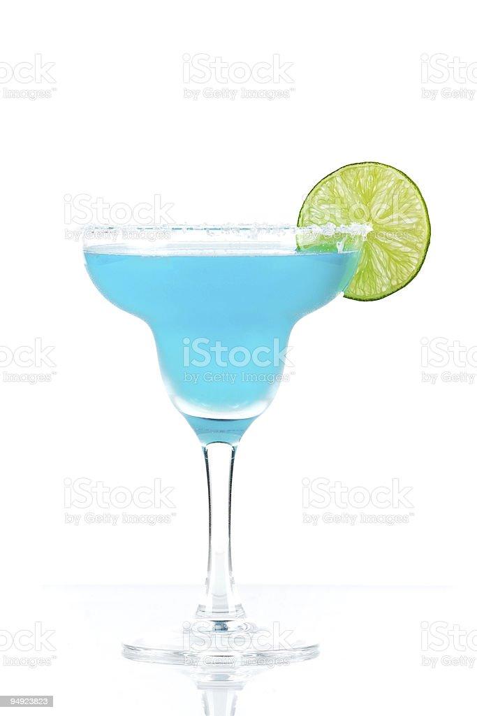 Blue margarita cocktail royalty-free stock photo