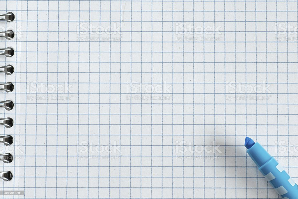 Blue marker royalty-free stock photo
