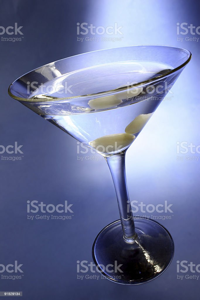 Blue Martini royalty-free stock photo