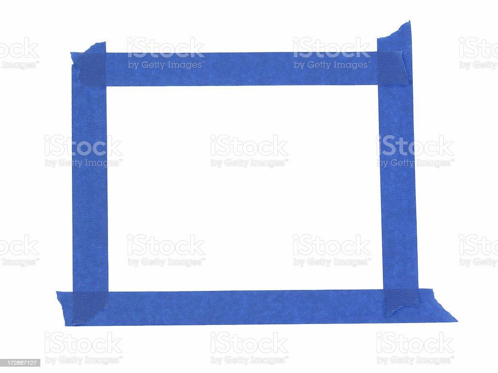 blue masking tape (path) royalty-free stock photo