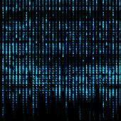 Blue Matrix Abstract - binary code screen background