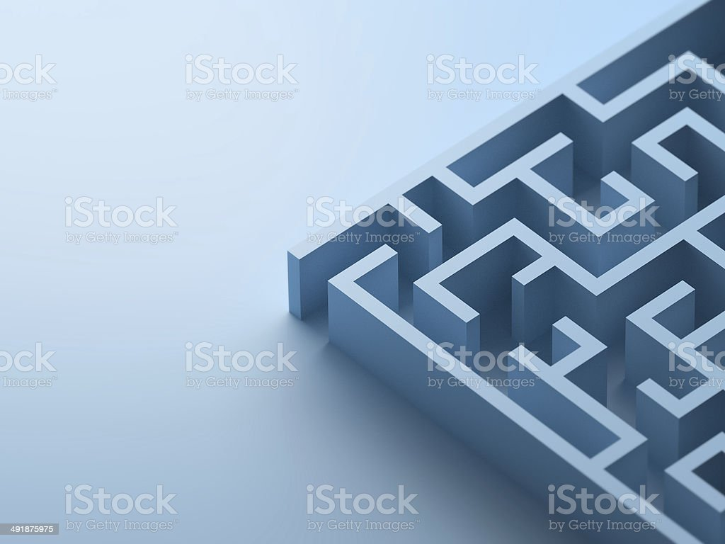 Blue Maze detail stock photo