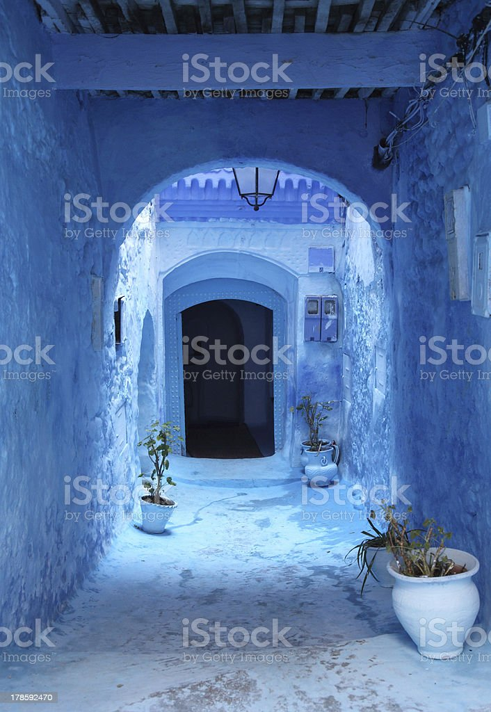 Blue medina of Chefchaouen, Morocco royalty-free stock photo