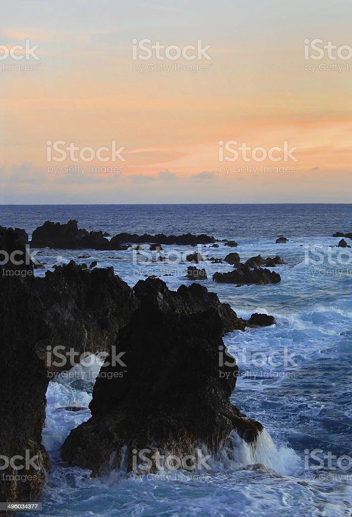 Blue meets Orange stock photo