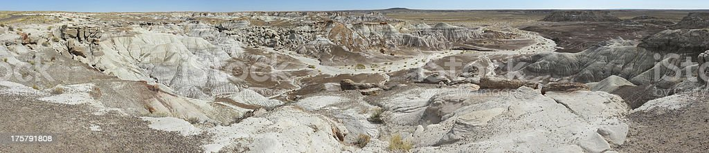 Blue Mesa Panorama Petrified Forest National Park Arizona High Desert royalty-free stock photo