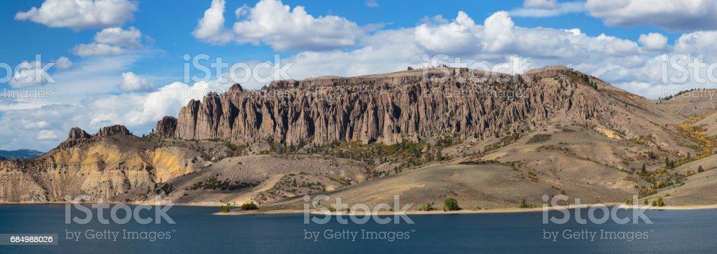 Blue Mesa Reservoir in Colorado stock photo