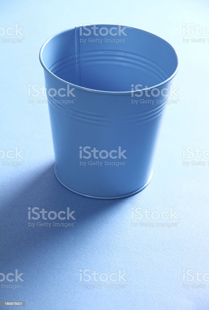 Blue metal bucket royalty-free stock photo