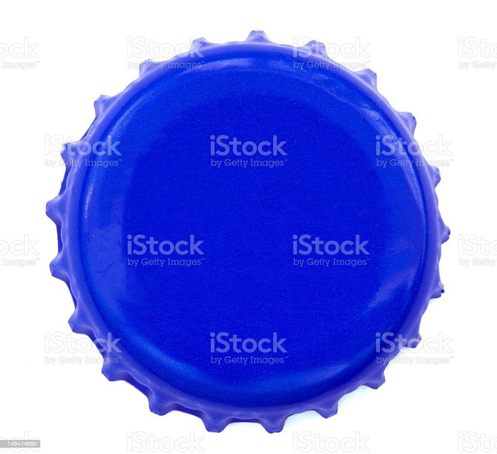 Blue Metal Cap royalty-free stock photo