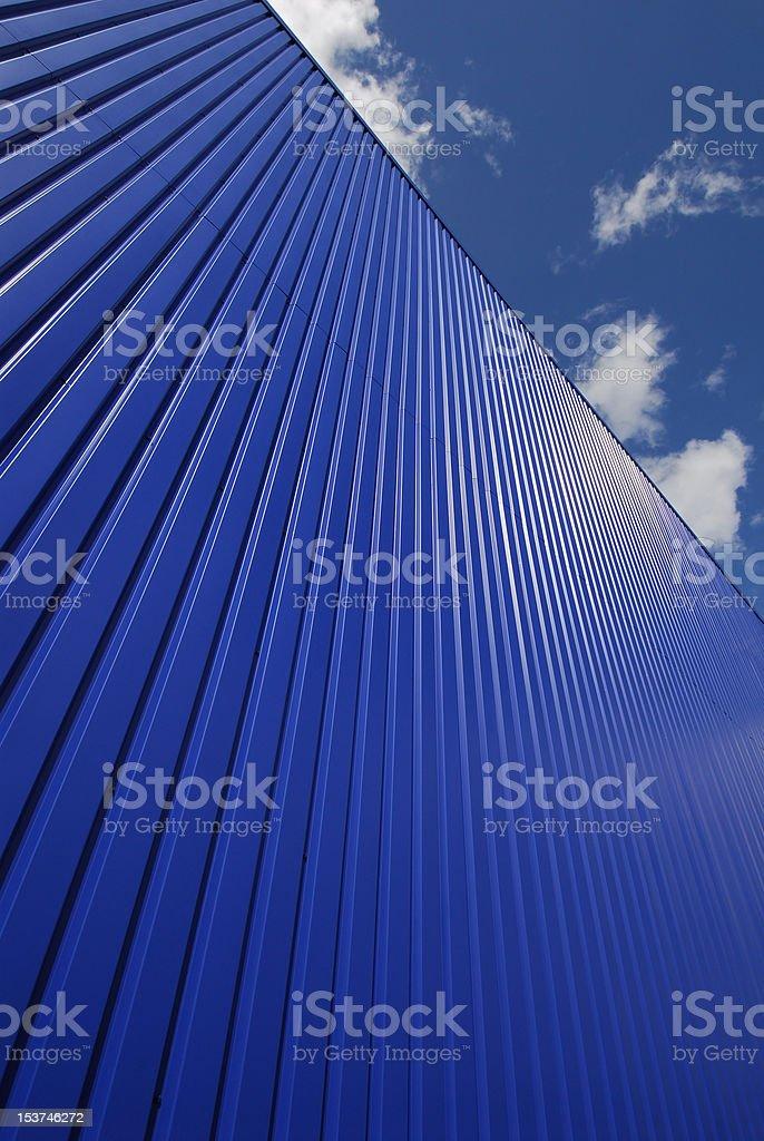 Blue Metal Cladding stock photo