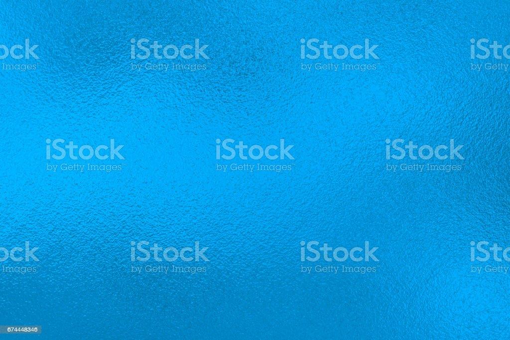 Blue metal foil background stock photo