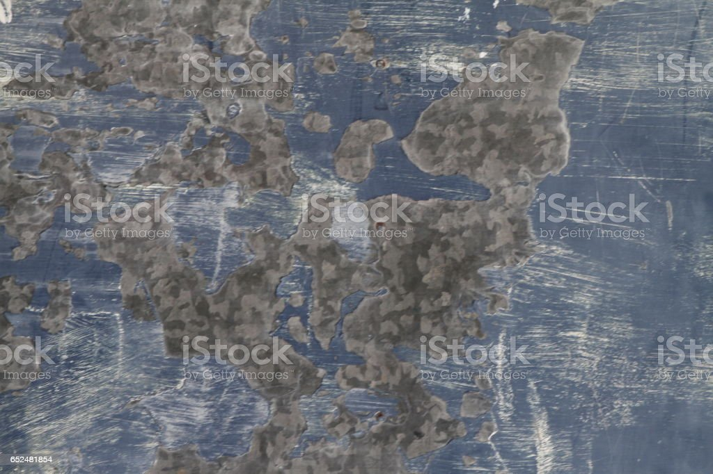 Blue Metal Grunge Texture stock photo