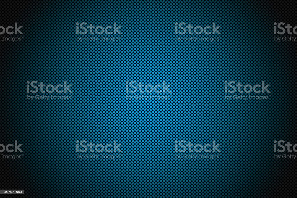 Blue Metal Mesh with round hole stock photo