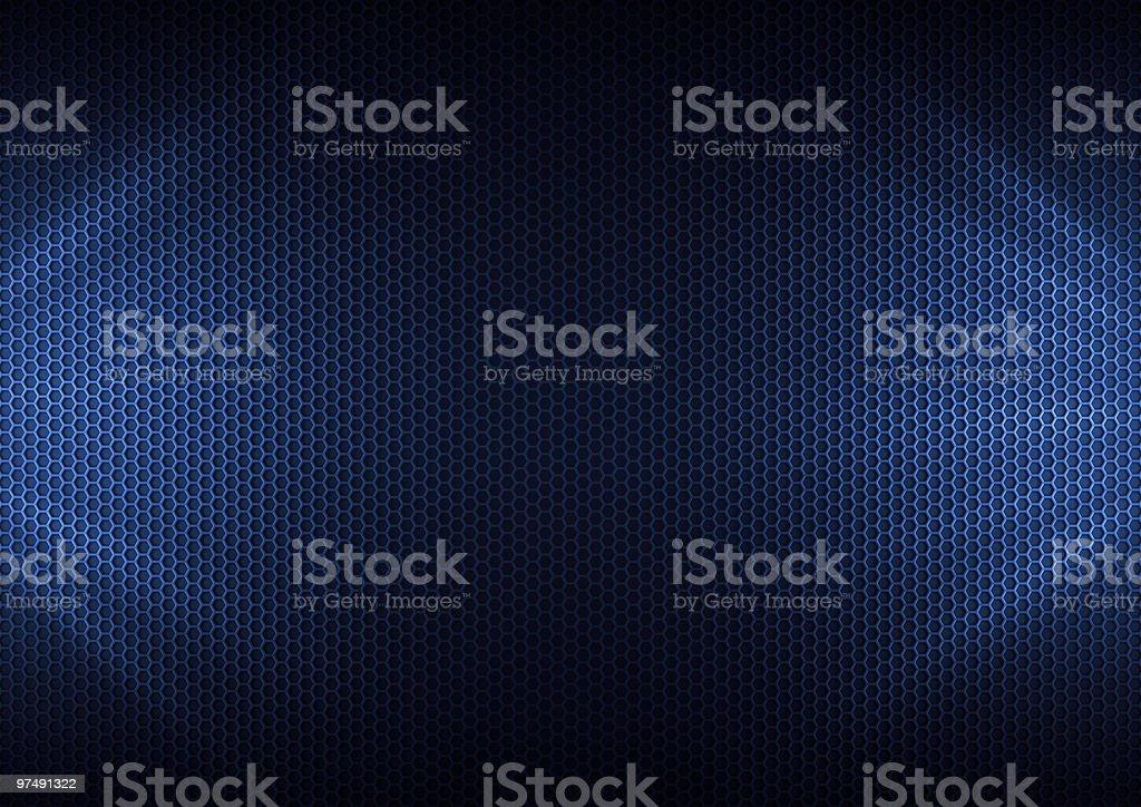 Blue Metal Plating stock photo