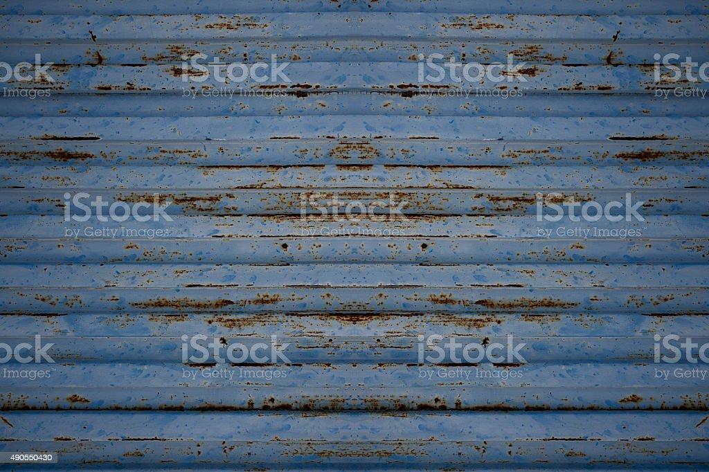 Azul textura de folha de metal. foto royalty-free
