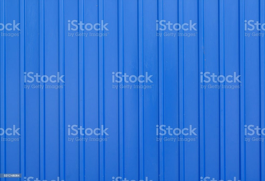 Blue metal siding wall texture background stock photo