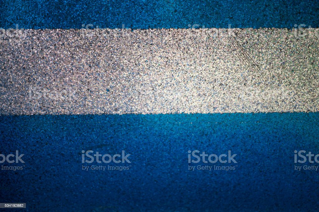 Blue Metal texture with white line stock photo