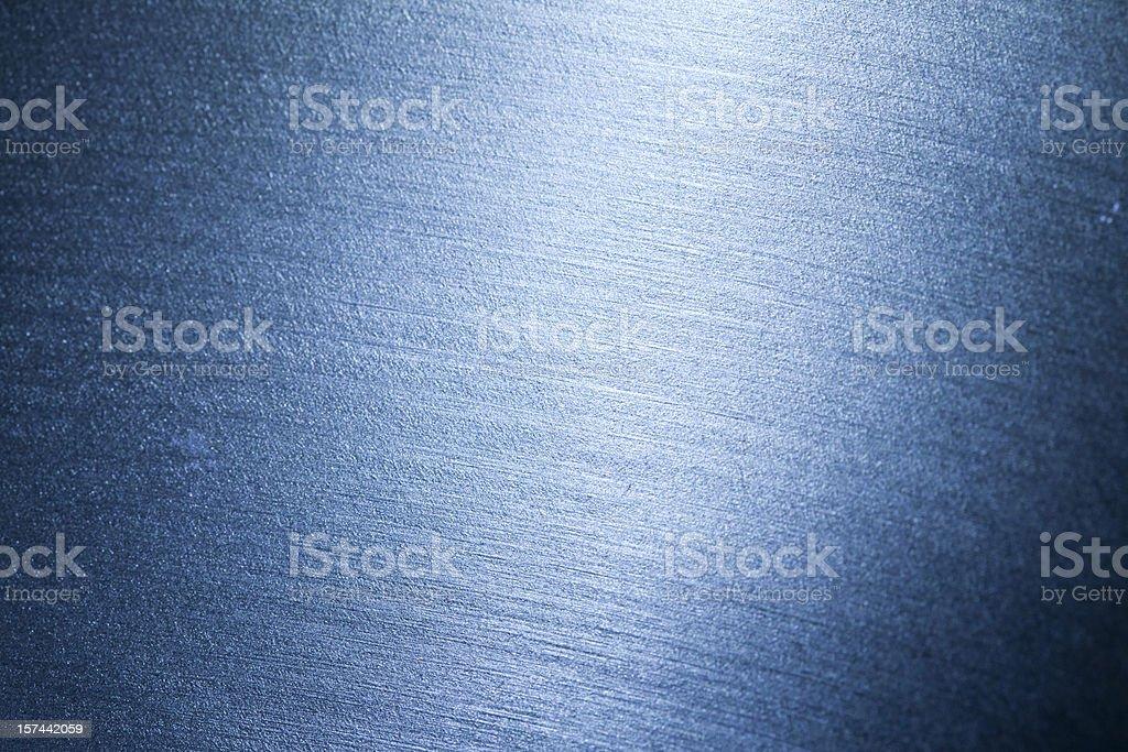 Blue metallic texture stock photo