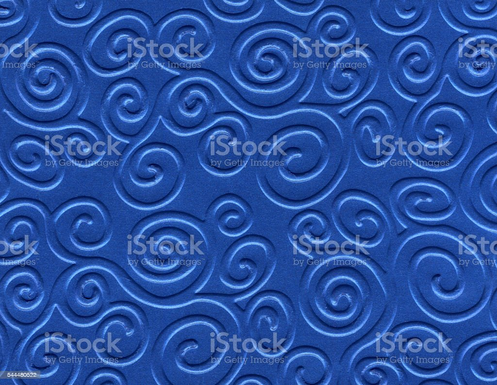Blue metallized paper background stock photo