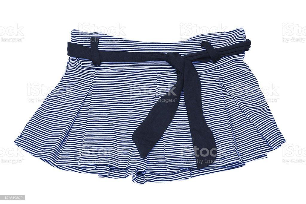 blue mini skirt royalty-free stock photo