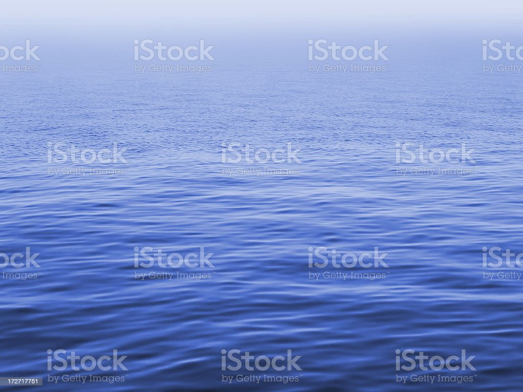 blue misty sea surface royalty-free stock photo