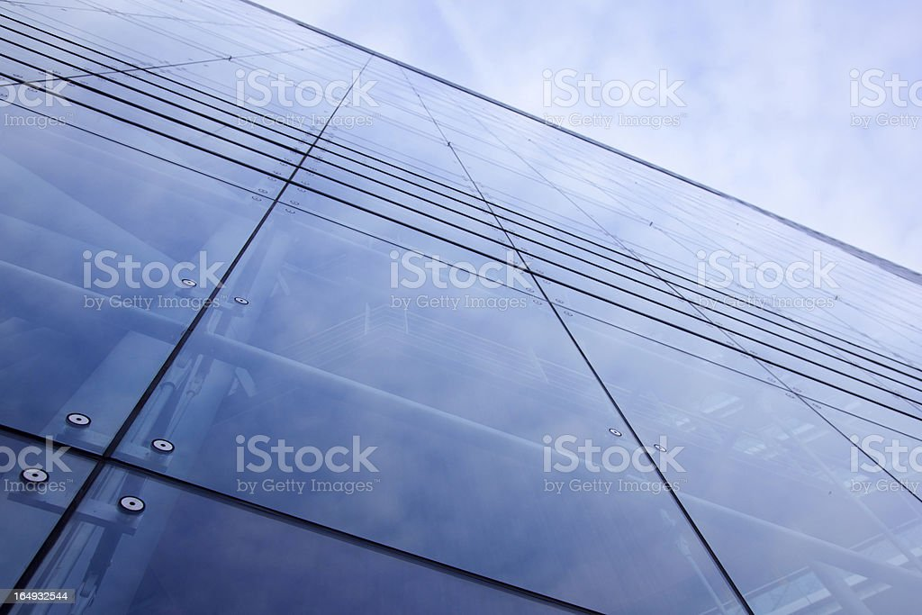 blue modern facade of office building royalty-free stock photo