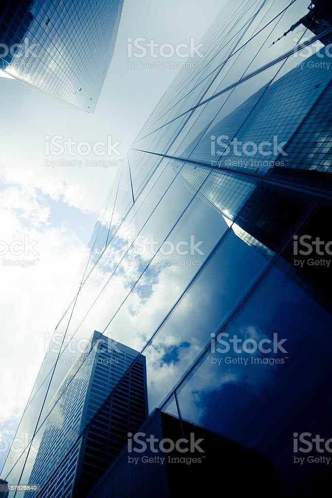 Blue Modern Highrise Reflection royalty-free stock photo
