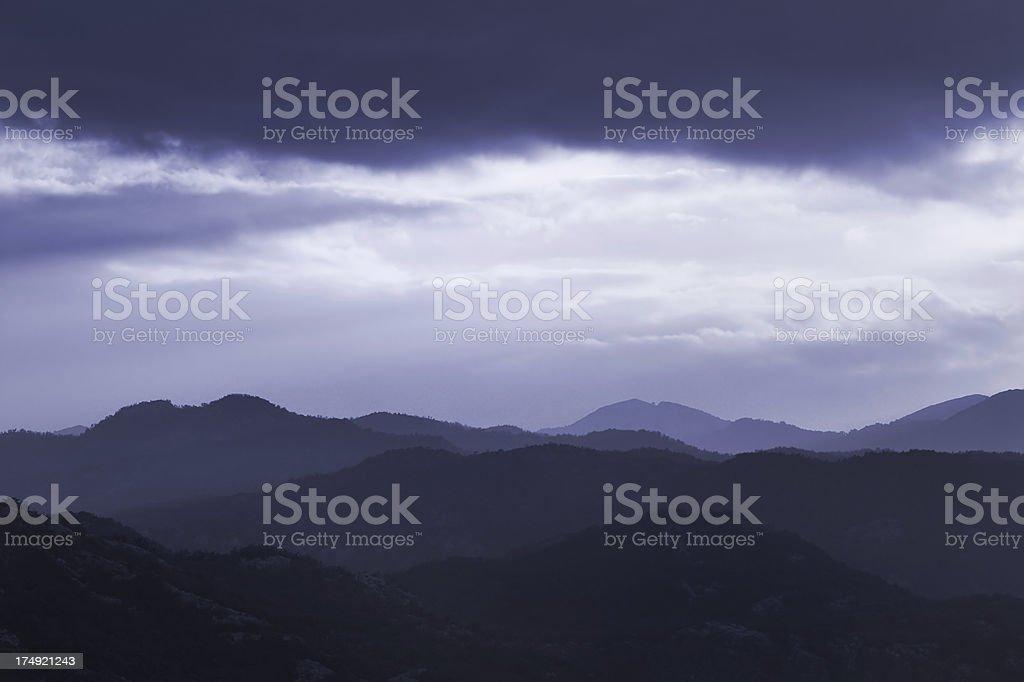 Blue mood stock photo