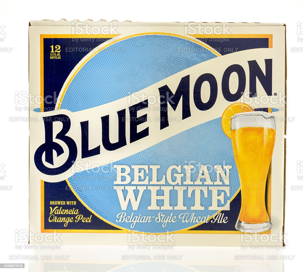 Blue Moon 12 Pack stock photo