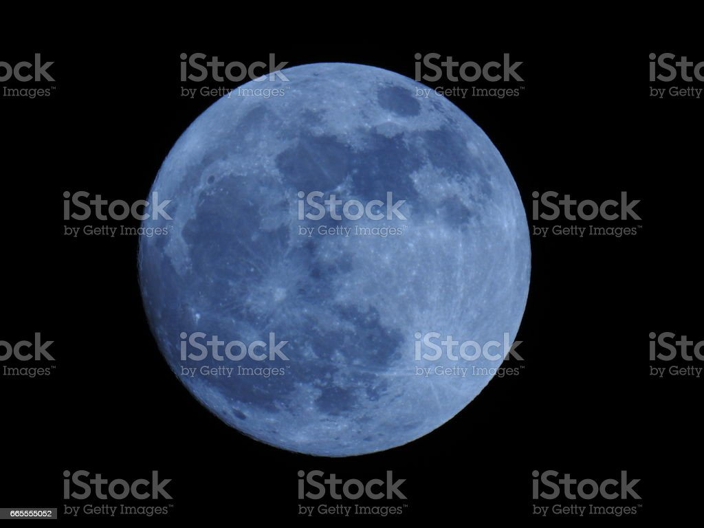 Blue Moon - Full stock photo