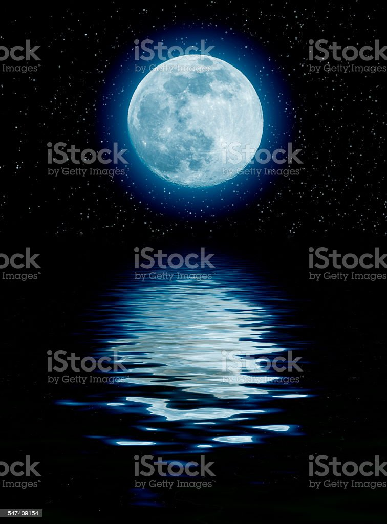 blue moon stock photo
