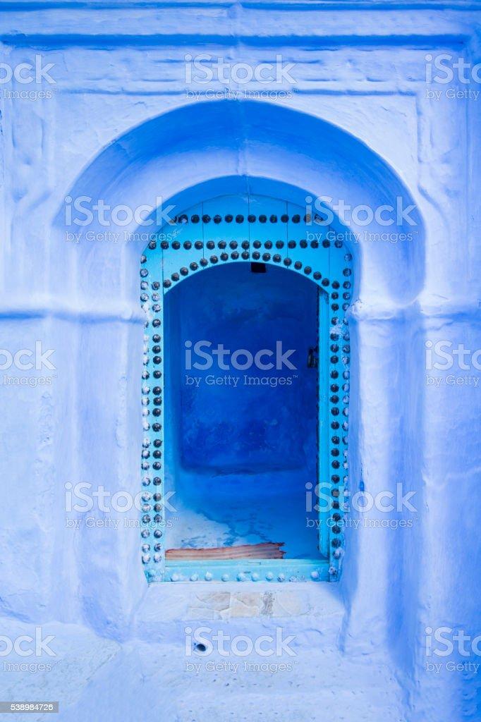 Blue Moroccan Door stock photo