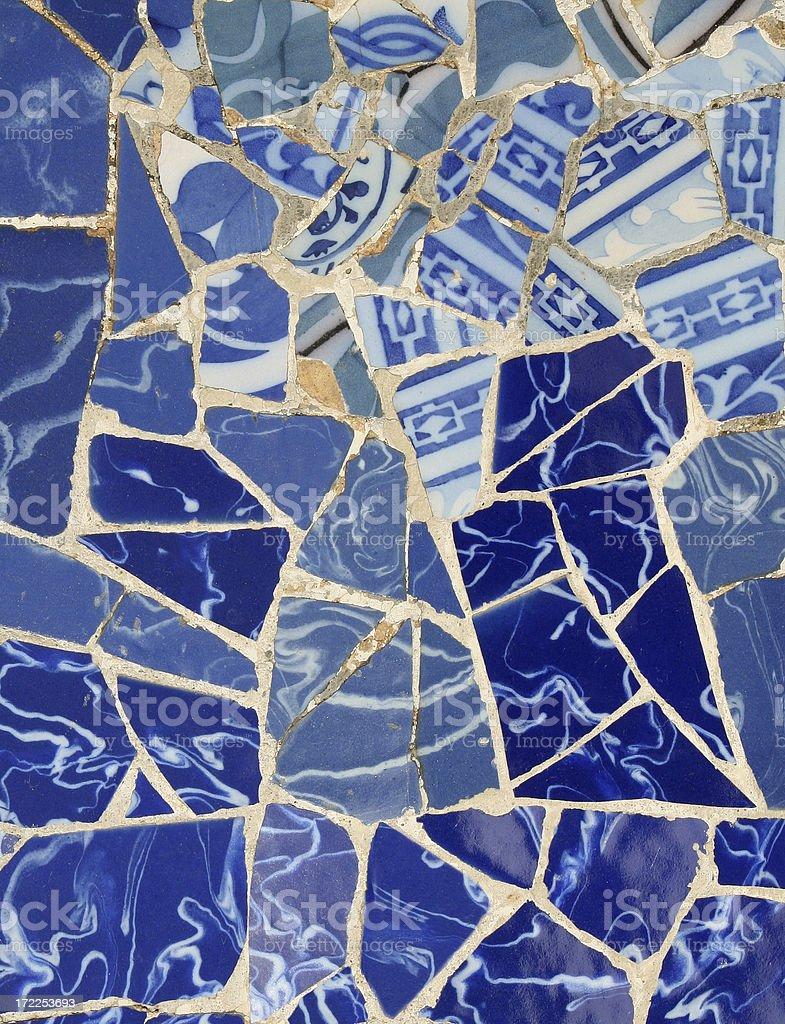 Blue Mosaic - Antoni Gaudi royalty-free stock photo