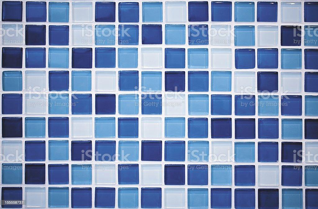Blue mosaic stock photo