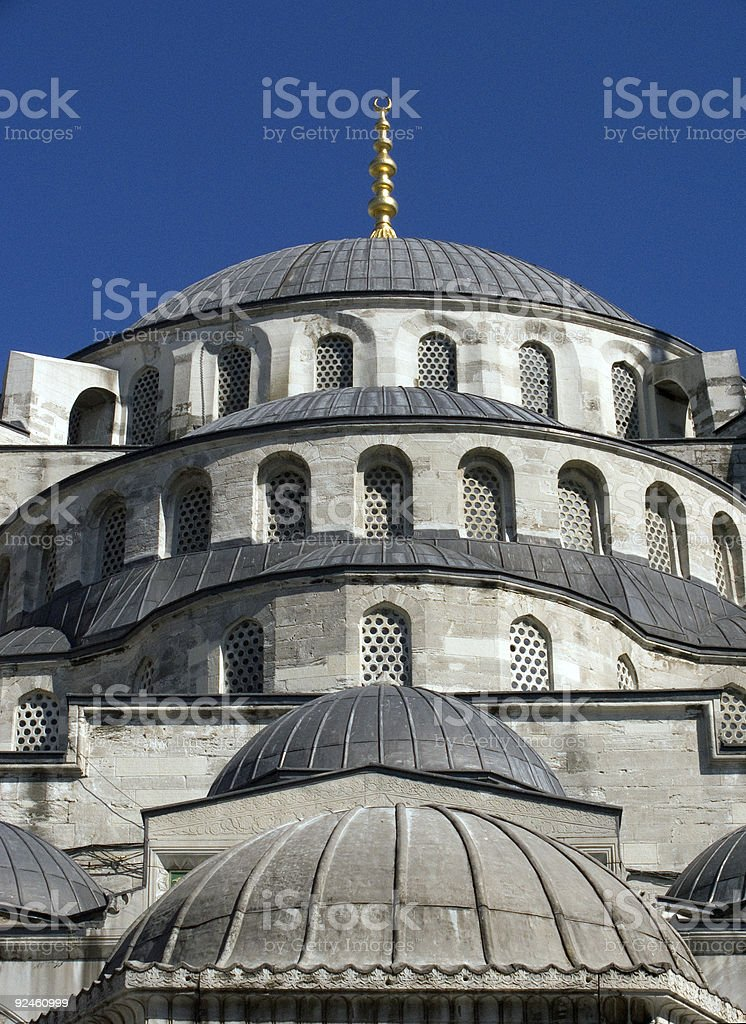 Blue mosque 10 royalty-free stock photo