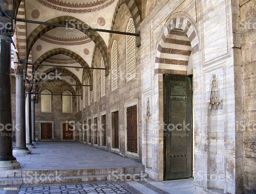 Blue mosque 11 royalty-free stock photo