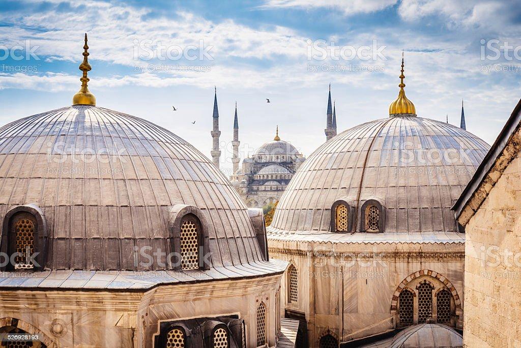 Blue Mosque And Aya Sofya, Istanbul stock photo