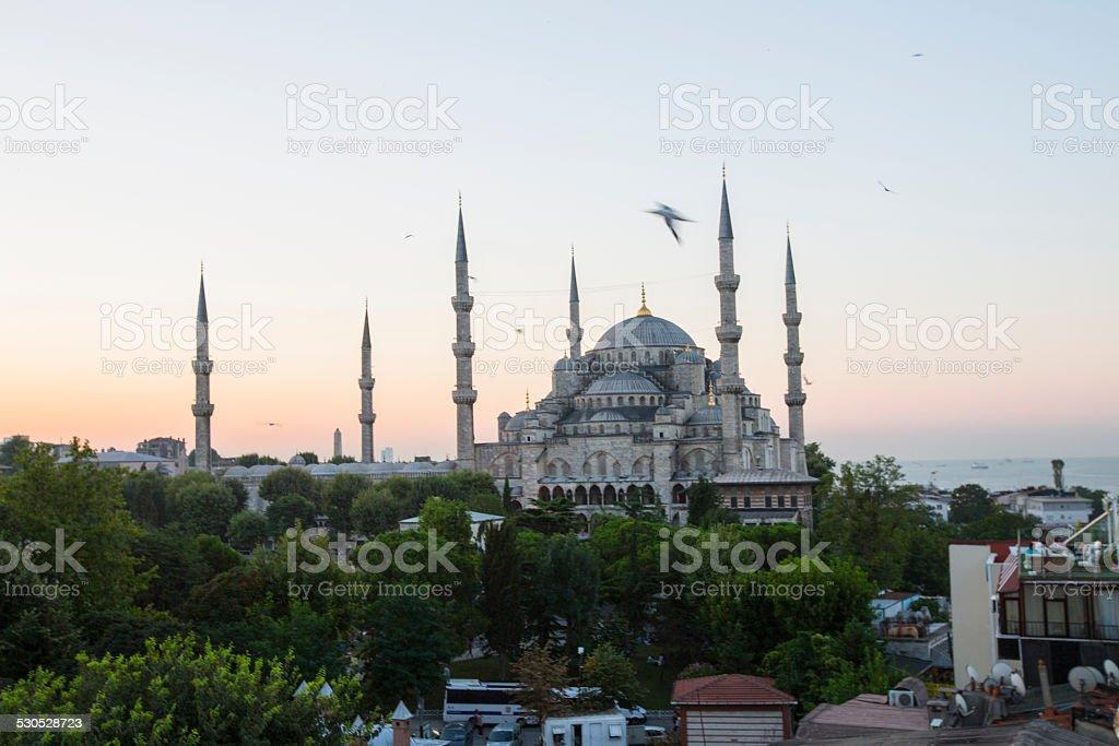 Blue Mosque and Hagia Sophia stock photo