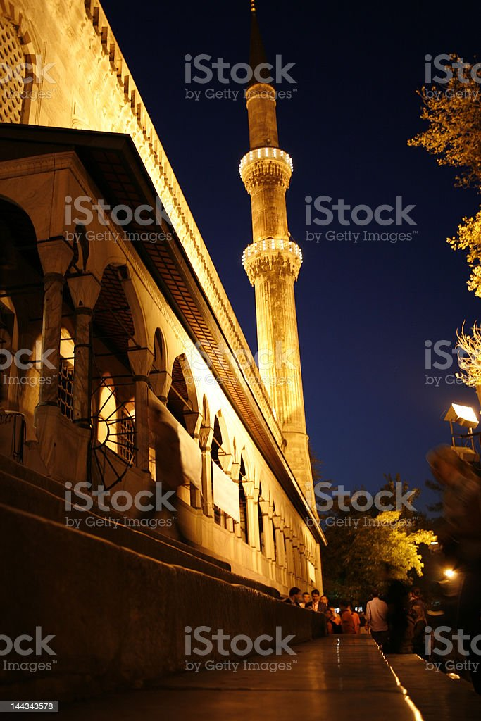 Blue Mosque at night royalty-free stock photo