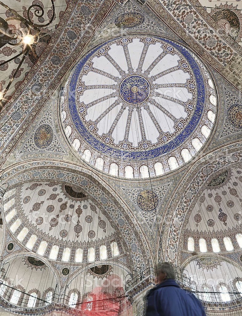 Blue Mosque Ceiling royalty-free stock photo