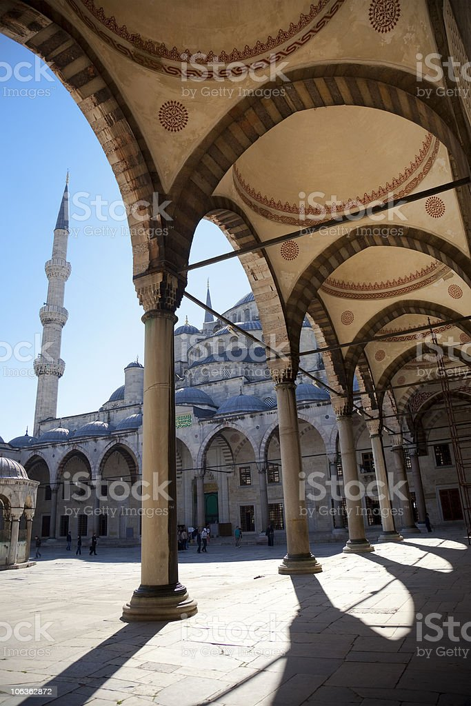 Blue mosque courtyard / Istanbul royalty-free stock photo