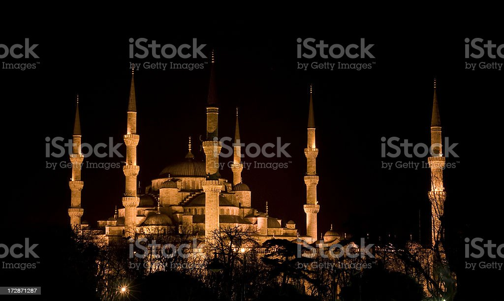 Blue Mosque in Istanbul isolated. royalty-free stock photo