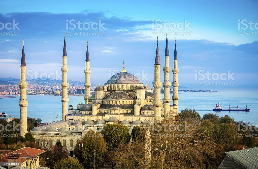 Blue Mosque in Istanbul royalty-free stock photo
