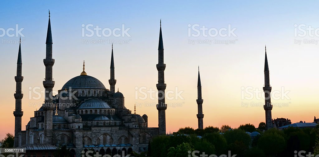 Blue Mosque in Istanbul. Turke stock photo
